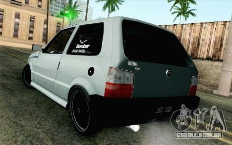 Fiat Uno Fire para GTA San Andreas esquerda vista