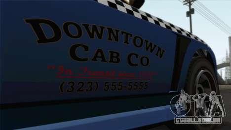 GTA 5 Bravado Buffalo S Downtown Cab Co. para GTA San Andreas vista traseira