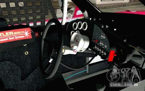 NASCAR Toyota Camry 2012 Plate Track para GTA San Andreas vista direita