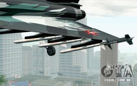 EuroFighter Typhoon 2000 Black Hawk para GTA San Andreas vista direita