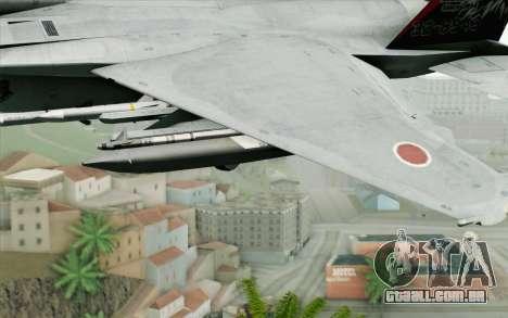 F-15J Kai 60th Anniversary of JASDF para GTA San Andreas vista direita