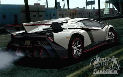 NFS Rivals Lamborghini Veneno para GTA San Andreas esquerda vista