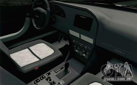 GTA 5 Karin Kuruma v2 SA Mobile para GTA San Andreas vista traseira