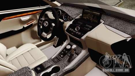 Lexus NX 200T para GTA San Andreas vista direita