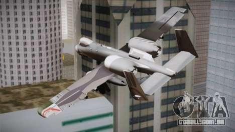 A-10A The Idolmaster -SP- para GTA San Andreas esquerda vista