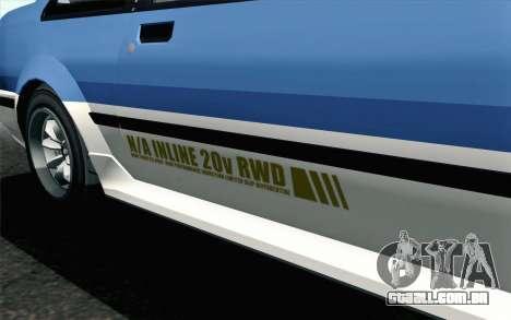 GTA 5 Karin Futo para GTA San Andreas vista direita
