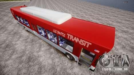 GTA 5 Bus v2 para GTA 4 traseira esquerda vista
