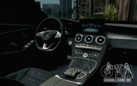 Mercedes-Benz C250 AMG Brabus Biturbo Edition para GTA San Andreas vista traseira