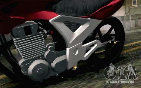 Honda Twister 250 v2 para GTA San Andreas vista traseira