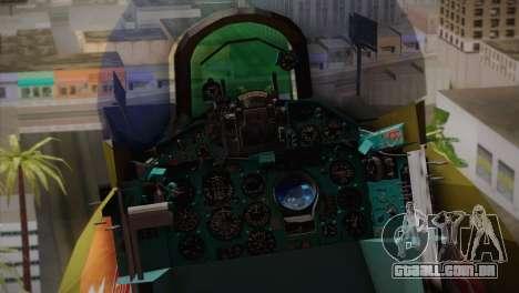 MIG 21 Russian Camo Force para GTA San Andreas vista traseira