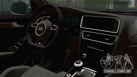 Audi S4 Avant 2013 para GTA San Andreas vista traseira