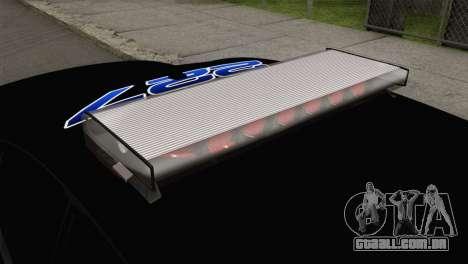 Dodge Charger 2013 LSPD para GTA San Andreas vista traseira