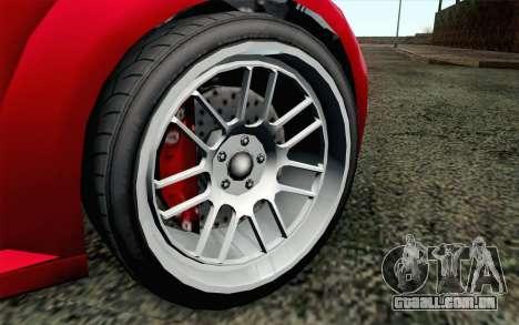 GTA 5 Ubermacht Sentinel Coupe IVF para GTA San Andreas traseira esquerda vista