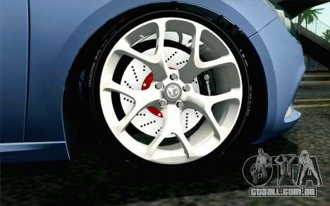 Vauxhall Astra VXR 2012 para GTA San Andreas traseira esquerda vista