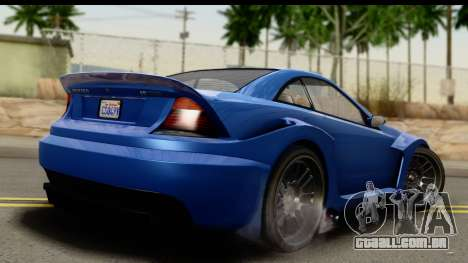 GTA 5 Benefactor Feltzer IVF para GTA San Andreas esquerda vista