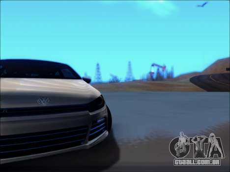Volkswagen Scirocco Tunable para GTA San Andreas vista interior