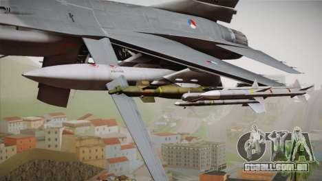 F-16 Fighting Falcon RNLAF Solo Display J-142 para GTA San Andreas vista direita