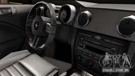 Ford Mustang GT Wheels 1 para GTA San Andreas vista direita
