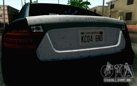 GTA 5 Karin Kuruma v2 SA Mobile para GTA San Andreas vista direita