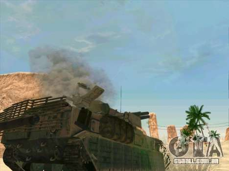 C Tunguska para GTA San Andreas vista superior