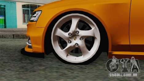 Audi S4 Avant 2013 para GTA San Andreas traseira esquerda vista