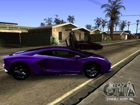 Lamborghini Aventador Tron para GTA San Andreas vista inferior