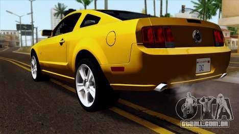 Ford Mustang GT Wheels 1 para GTA San Andreas esquerda vista