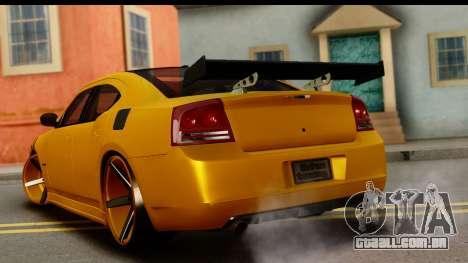 Dodge Charger SRT8 2006 Tuning para GTA San Andreas esquerda vista