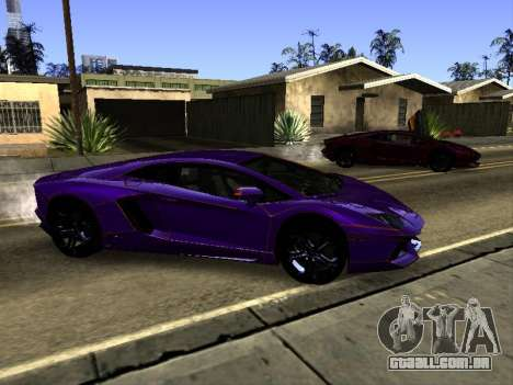 Lamborghini Aventador Tron para GTA San Andreas vista superior