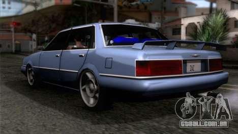 Primo GT para GTA San Andreas esquerda vista