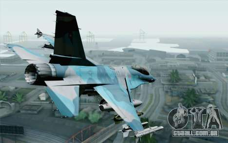 F-16C Fighting Falcon NSAWC Blue para GTA San Andreas esquerda vista