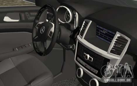 Mercedes-Benz GL63 AMG 2014 para GTA San Andreas vista direita