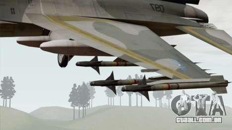F-16 Scarface Squadron para GTA San Andreas vista direita