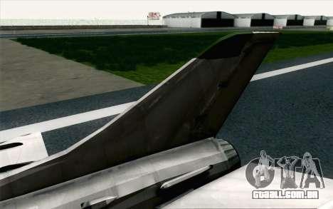 MIG-21 Fishbed C Vietnam Air Force para GTA San Andreas traseira esquerda vista