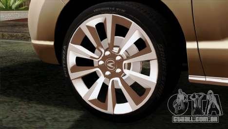 Acura MDX 2009 para GTA San Andreas traseira esquerda vista