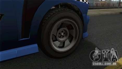 GTA 5 Bravado Buffalo S Downtown Cab Co. para GTA San Andreas traseira esquerda vista