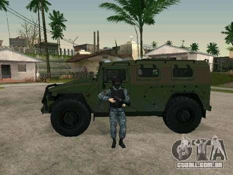 O policial para GTA San Andreas por diante tela