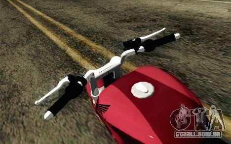 Honda Twister 250 v2 para GTA San Andreas vista direita