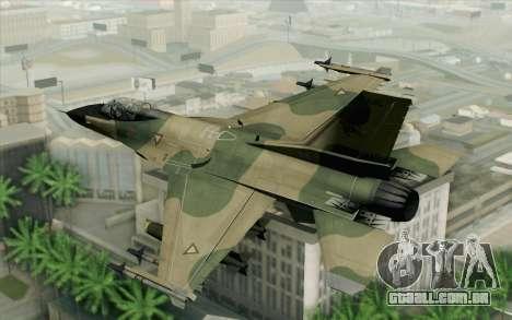 F-16 Fighter-Bomber Green-Brown Camo para GTA San Andreas esquerda vista