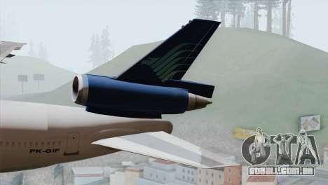 DC-10-30 Garuda Indonesia para GTA San Andreas traseira esquerda vista