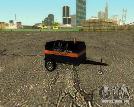 Multi Utility Trailer 3 in 1 para GTA San Andreas traseira esquerda vista