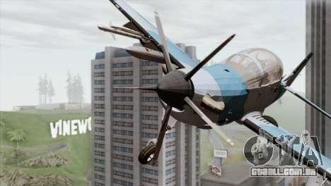 Embraer A-29B Super Tucano Navy Blue para GTA San Andreas vista traseira