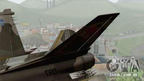 F-16 Scarface Squadron para GTA San Andreas traseira esquerda vista