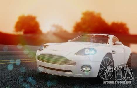 Aston Martin V12 Vanquish 2001 v1.01 para GTA San Andreas esquerda vista