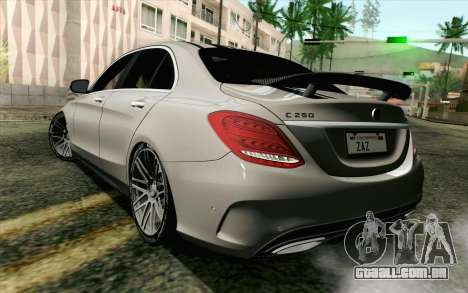 Mercedes-Benz C250 AMG Brabus Biturbo Edition para GTA San Andreas esquerda vista