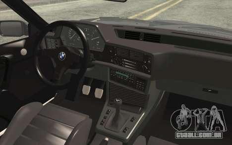 BMW M635CSI E24 1986 V1.0 EU Plate para GTA San Andreas vista direita