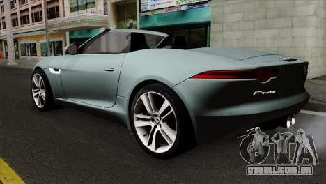 Jaguar F-Type para GTA San Andreas esquerda vista