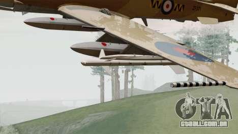 Embraer A-29B Super Tucano RAF Desert para GTA San Andreas vista direita