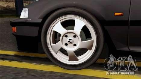 Honda Civic EF Hatchback para GTA San Andreas traseira esquerda vista