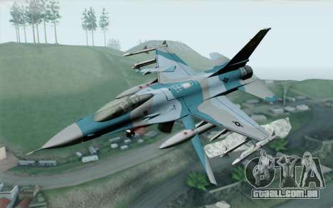 F-16C Fighting Falcon Aggressor BlueGrey para GTA San Andreas